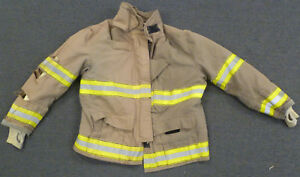56x36 Firefighter Jacket Coat Bunker Turn Out Gear Globe J609