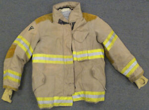 46x32 Firefighter Jacket Coat Bunker Turn Out Gear Janesville Lion Apparel J614