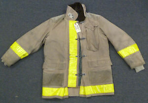 44x35 Firefighter Jacket Coat Bunker Turn Out Gear Globe J616