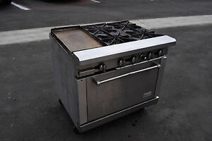 Rr 4 g12 Range 36 Royal 4 Burner Stove Gas Commerical Oven Griddle Restaurant