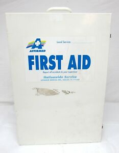 Vtg Durham Metal Wall Mount Portable Industrial First Aid Cabinet 21 5 X 15