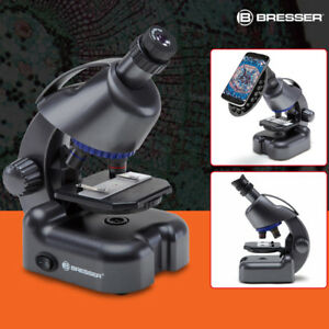 Bresser 40x 640x Led Optical Monocular Compound Microscope Biological Student