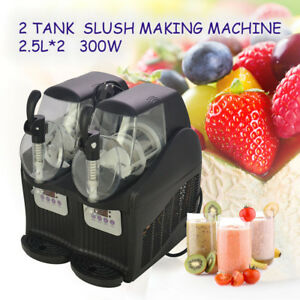 Hot 300w 2 5l 2 Mini Margarita Slush Frozen Drink Machine