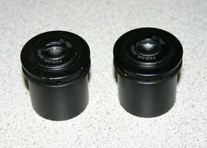 Pair Of Nikon 20x 12 Eyepieces For Stereozoom Microscopes 30mm Barrel
