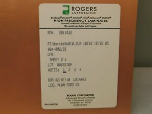 Rogers Corp Rt duroid 6010 2lm 10 x10 High Frequency Copper Ptfe Ceramic Board