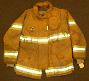 46 Regular Firefighter Jacket Coat Bunker Turn Out Gear Securitex J571