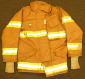 42 Regular Firefighter Jacket Coat Bunker Turn Out Gear Securitex J572