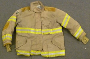 52x32 Firefighter Jacket Coat Bunker Turn Out Gear Janesville Lion Apparel J623
