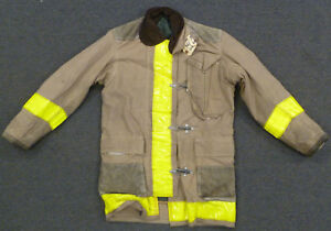 36x35 Firefighter Jacket Coat Bunker Turn Out Gear Globe J626