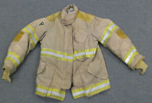 42x32 Firefighter Jacket Coat Bunker Turn Out Gear Janesville Lion Apparel J636