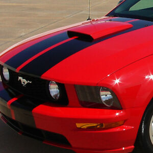 For 05 09 Ford Mustang Paintable Racing Air Flow Intake Hood Scoop Vent Cover
