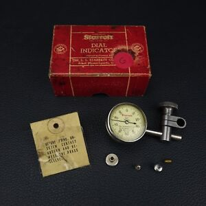 Vintage Starrett Dial Test Indicator 196b With Box Free Shipping