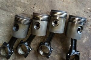 Oliver 77 Tractor Gas Engine Pistons Rods Parts