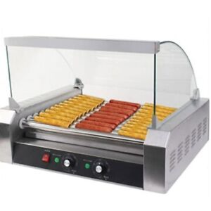 New Commercial 11 Tube Sausage Machine Hotdog Maker Stainless Steel Food Heating