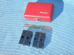 Starrett No706bz Used Pair 1 2 3 Block Case Toolmaker Machinist Quality Inspect