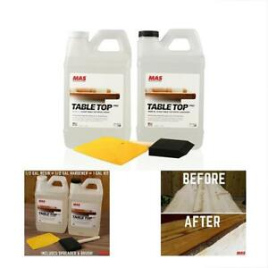 Crystal Clear Epoxy Adhesives Resin Kit Mas Table Top Pro Hardener Two Part 1