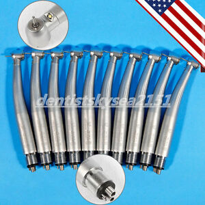 10 Us E generator Led Fiber Optic Dental High Speed Handpiece 4hole F kavo Nsk