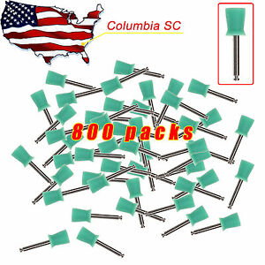 800pcs Usa Dental Prophy Tooth Polishing Cups Brush Latch Type Rubber Green
