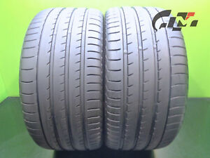 2 Excellent Yokohama Tires 295 35 21 Advansport V105 107y N2 Oem Porsche 46948