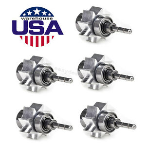 5pc Us Dentist Dental Cartridge Air Turbine Rator Large Torque Head Push Button
