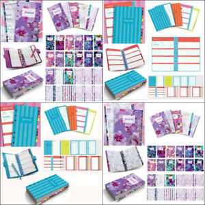 Filofax A5 a6 a7 2019 Stripes floral Illustrated Diary Refill Pack Organiser