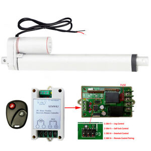 12 Stroke 12v Linear Actuator Dc Motor Remote Control For Auto Lifting System