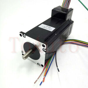Nema23 3nm Integrated Stepper Motor L112mm 4 2a 2phase Shaft D8mm For Router Cnc
