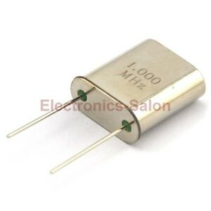 1 Mhz Quartz Crystal Resonator Hc 51 u 1 000 Mhz 1000 Khz X 10pcs