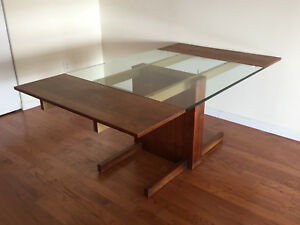 Vladimir Kagan Mid Century Modern 1960 S Cubist Walnut Extension Dining Table