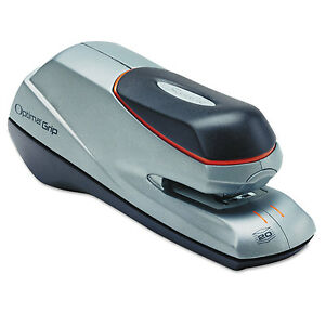 Swingline Optima Grip Electric Stapler Half Strip Auto manual 20 Sheets Silver