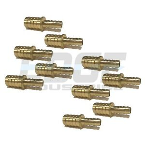 10 Pack 5 8 X 3 8 Hose Barb Mendor Union Splicer Brass Pipe Fitting Wog Fuel Air