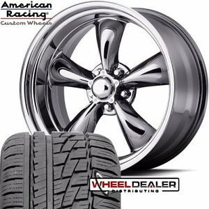 17x7 17x8 American Racing Tq Thrust Chrome Wheels Tires Ford Mustang 1965 1966