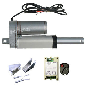 12volt 2 Stroke 1500n Linear Actuator Motor W Wireless Controller Brackets Set
