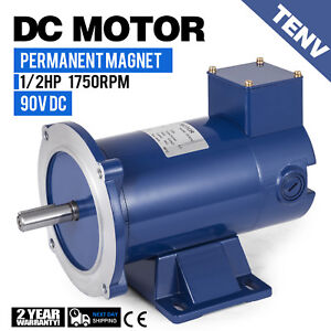 Dc Motor 1 2hp 56c Frame 90v 1750rpm Tenv Magnet Generally Smooth Applications
