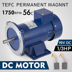 Dc Motor 1 3hp 56c Frame 90v 1750rpm Tefc Magnet Grease Generally Permanent