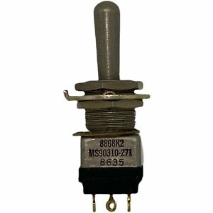 On off on Ms90310 271 Spdt Aircraft Toggle Switch