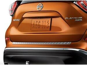 Brand New Oem 15 18 Nissan Murano Stainless Chrome Rear Bumper Scuff Protector