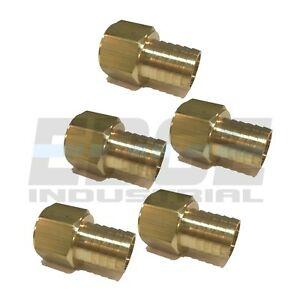 5 Pack 1 Hose Barb X 1 Female Npt Brass Pipe Fitting Npt Wog Fuel Air