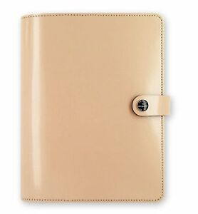 Filofax The Original Patent Nude A5 Size Leather Organizer Agenda Ring Binder