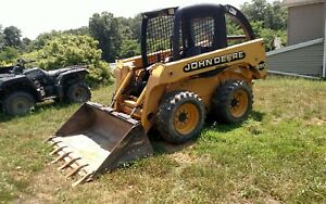 2001 John Deere Skid Steer Loader 1500 Hrs W Metal Tracks
