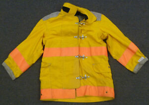 36x35 Firefighter Jacket Bunker Turn Out Gear Body guard Yellow Coat J638