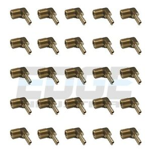 25 Pack 3 16 Hose Barb Elbow X 1 4 Male Npt Brass Pipe Fitting Wog Fuel Air
