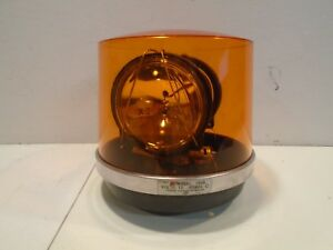 Federal Signal Rotating Beacon Light Model 14sb Amber 2 Bulb 12v Series C