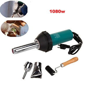 1080w Plastic Welding Hot Air Gas Torch Welder Gun Pistol Tool Nozzle