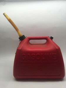 Vtg 5 Gallon Gott Plastic Gas Can Vented Old 1251 Ultra Super Triple Duper Rare