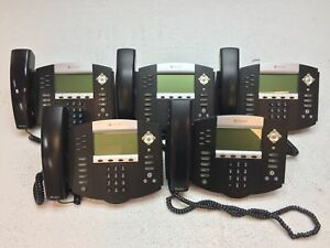Lot Of 5 Polycom Soundpoint Ip650 Voip Digital Phone W handset Stand Reset