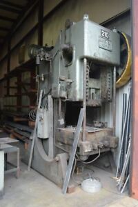 Minster No 9 110 Ton Obi Stamping Press