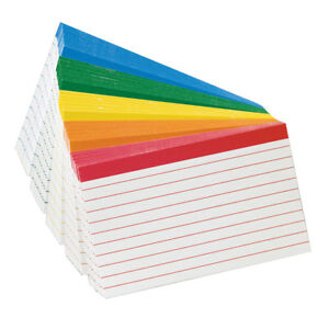 Oxford Color coded Index cards 4x6 15 Pk 04754