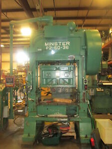 Minster P2 60 36 Straight Side Stamping Press W 3 Stroke 7 10 Shut Height