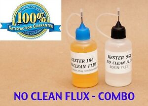 60 Ml Combo Kester 951 Kester 186 Soldering Liquid Flux Reflow No Clean
